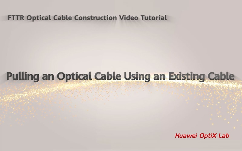 pulling an optical cable using an existing cable