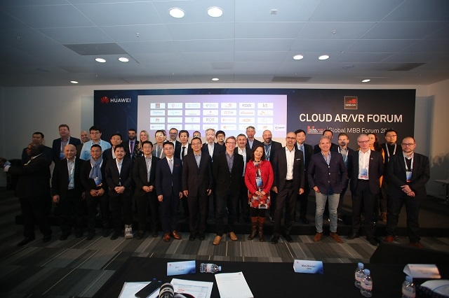 Group photo of the GSMA Cloud AR/VR Forum