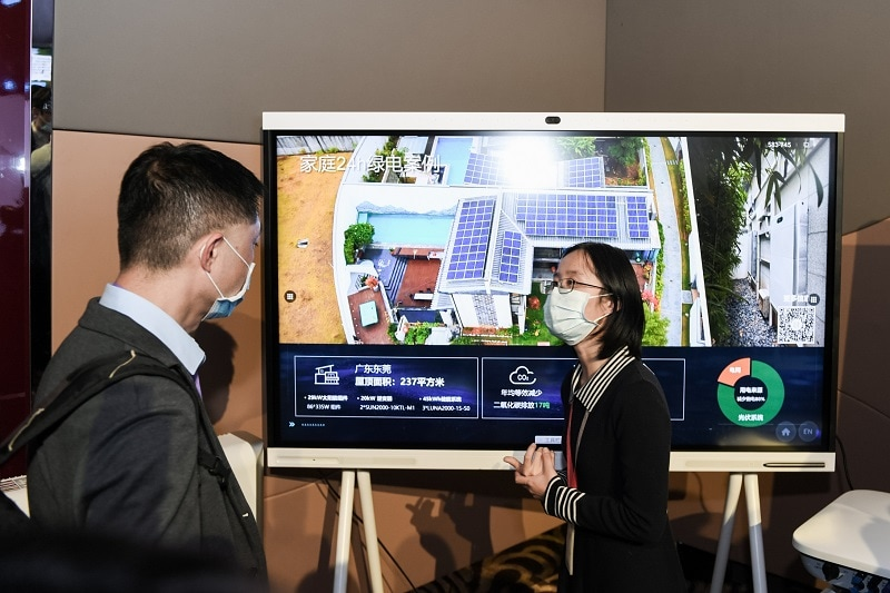 staff presented Huawei's achievements