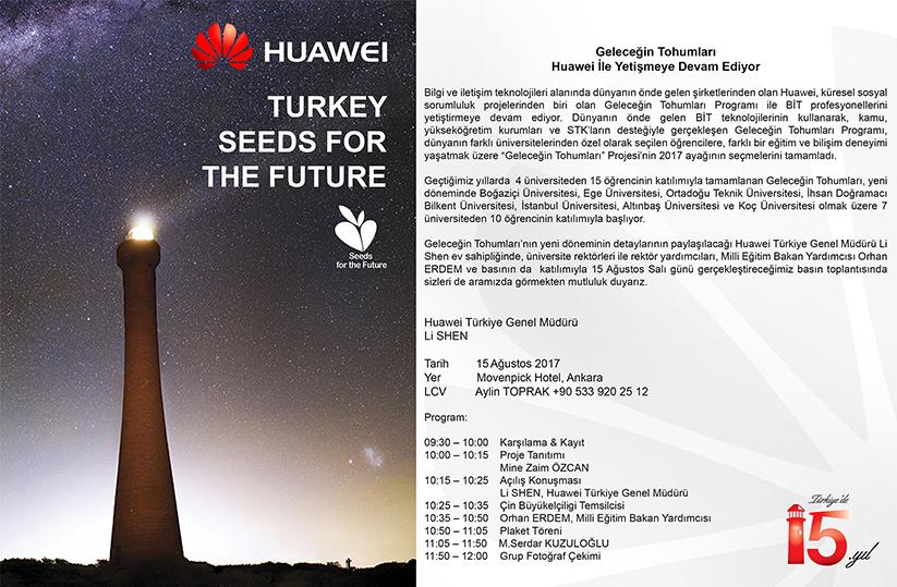 Geleceğin Tohumları Huawei ile Yetişmeye Devam Ediyor - Huawei Türkiye
